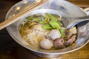 Asian beef noodle