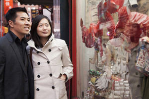 Asian couple in chinatown