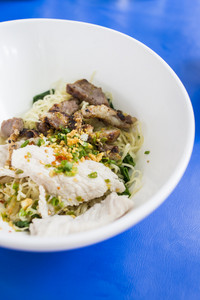 Asian pork noodles