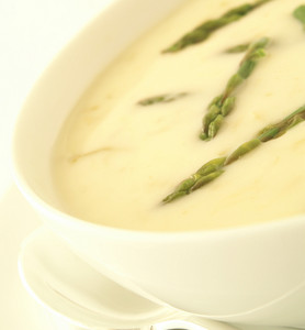 Asparagus Soup In Bowl