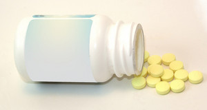 Asprin Bottle And Pills