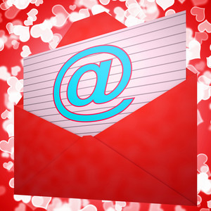 At Envelope Shows Email Message And Correspondence