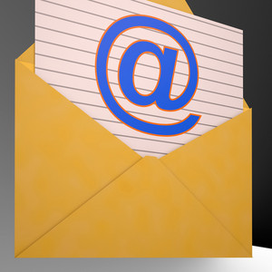 At Envelope Shows World Telecommunications Mail