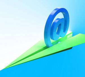At Sign Aeroplane Shows Web Mailing Communication