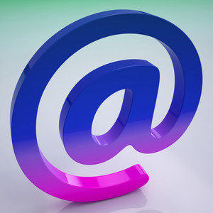 At Sign Shows E-mail Symbol For Message