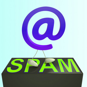 At Sign Spam Shows Malicious Electronic Junk Mail