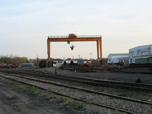 at the railroad station - cargo loading & unloading area