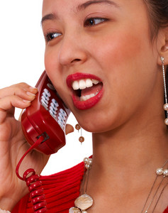 Attractive Female On The Phone