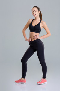 Attractive sensual fitness woman