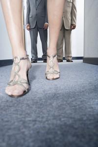 Attractive woman walking in office