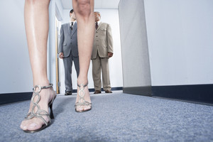 Attractive woman walking in office