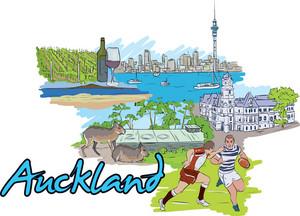 Auckland Vector Doodle