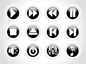 Audio Button Rounded Icons