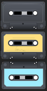 Audio Cassette Vectors