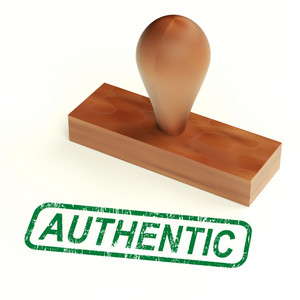 Authentic Rubber Stamp Showing Real Genuine Product