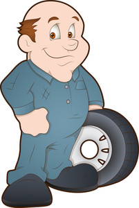Automobile Engineer - Cartoon Character
