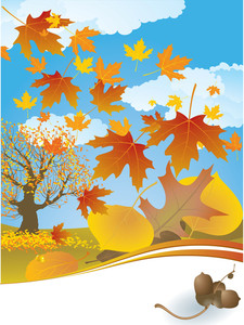 Autumn Background. Vector.