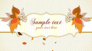 Autumn Label With Grapes Vector Illustration