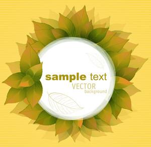 Autumn Leaves Vintage Romantic Frame. Vector.