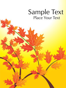 Autumn Leaves With Sample Text