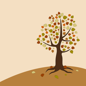 Autumn Tree On Nature Background