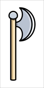 Axe - Cartoon Vector Illustration
