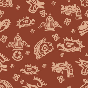 Aztec Pattern Vector Element