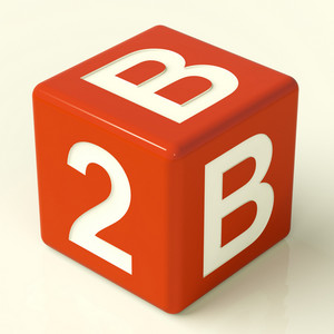 B2b Dice As A Sign Of Business And Partnership
