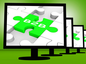 B2b On Monitors Shows Emarketing