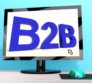 B2b Word On Computer Shows Business And Commerce