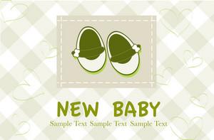 Baby Arrival Vector Card