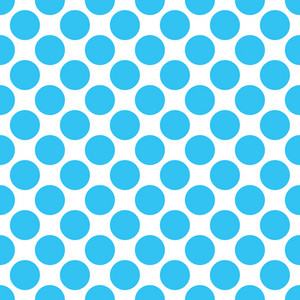 Baby Birthday Pattern Of Blue Circles