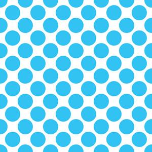 Baby Birthday Pattern Of Blue Circles
