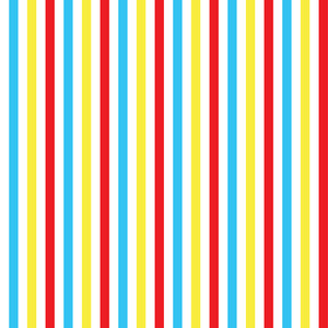 Baby Birthday Pattern Of Colourful Stripes