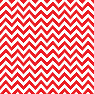 Baby Birthday Pattern Of Red Chevrons