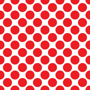 Baby Birthday Pattern Of Red Circles