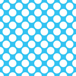Baby Birthday Pattern Of White Circles On A Blue Background