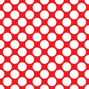 Baby Birthday Pattern Of White Circles On A Red Background