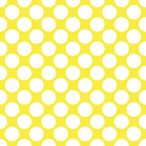 Baby Birthday Pattern Of White Circles On A Yellow Background