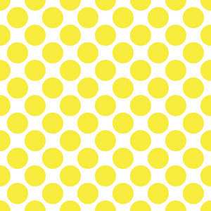 Baby Birthday Pattern Of Yellow Circles