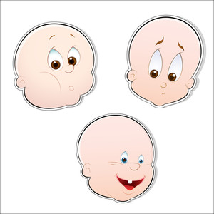 Baby Faces Vectors