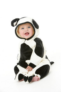 Baby in cow costume