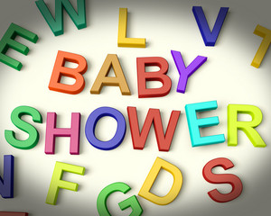 Baby Shower Written In Kids Letters