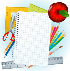 Back To School Vector Template.