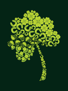 Backgorund With Isolated Shamrock