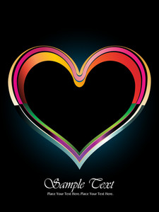 Backgorund With Rainbow Heart