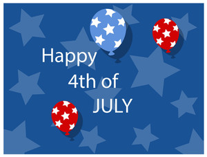 Background 4th Of July Vector Illustration