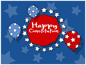 Background Constitution Day Vector Illustration