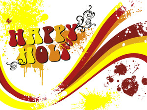 Background For Happy Holi Celebration