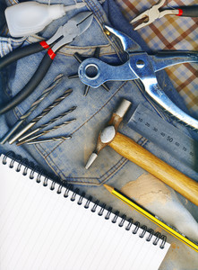 Background Made Of Tools